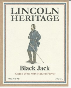 Lincoln Heritage Winery Black Jack