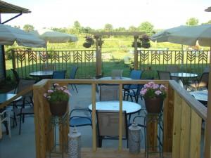 Bright flowers and verdant vineyards!
